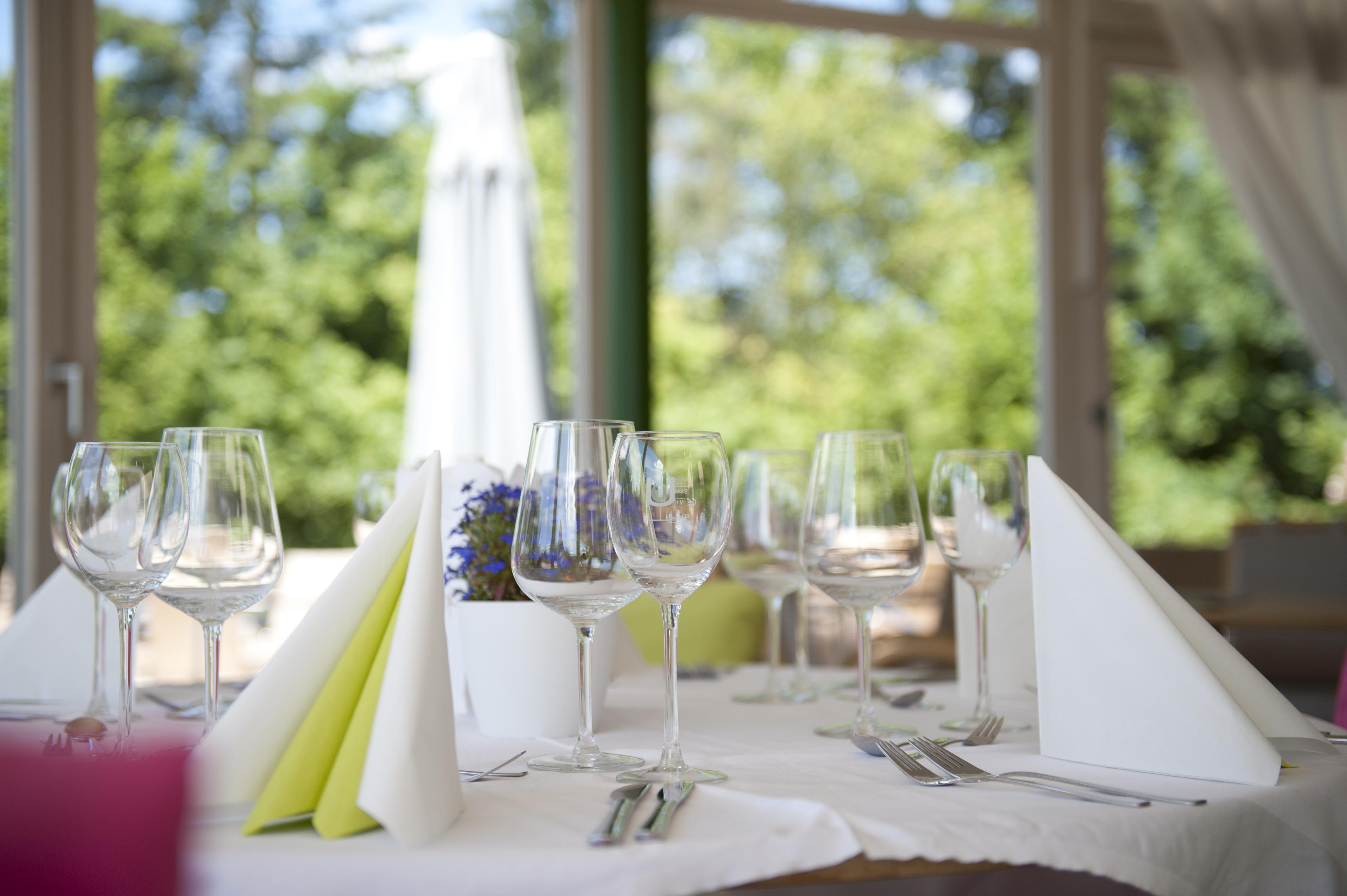 Gastronomie gedeckter Tisch